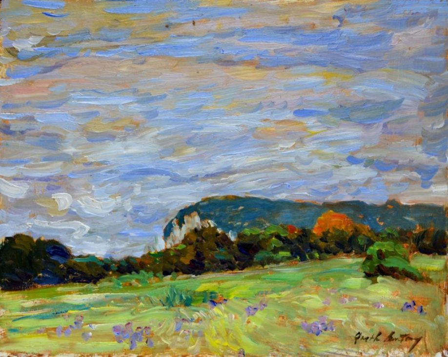 Garth Armstrong - Mount Nemo - 8x10 - GA0203 - Oil