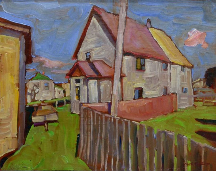 Garth Armstrong - Small Town - 8x10 - GA0218s - Oil