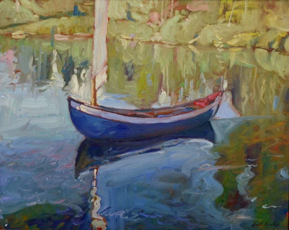 Garth Armstrong - Blue Canoe - 16x20 - GA0225s - Oil