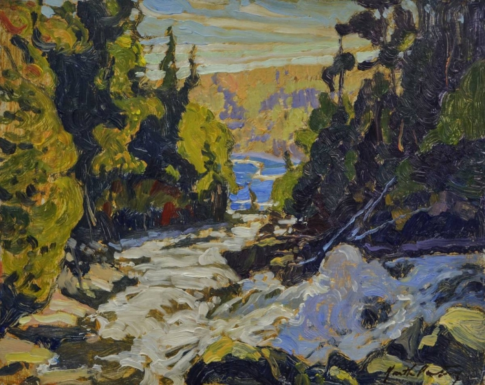 Garth Armstrong - Ragged Falls, Oxtongue River (sketch)