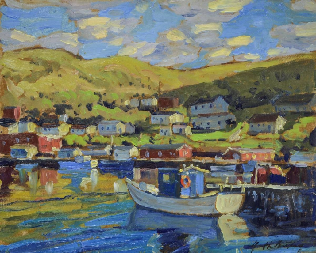 Garth Armstrong - Petty Harbour (sketch)